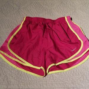 Nike pink dri fit shorts S